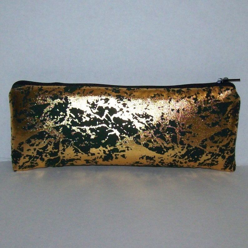Padded Pipe Pouch  Gold Metallic  Pipe Case  Glass Pipe Bag image 0