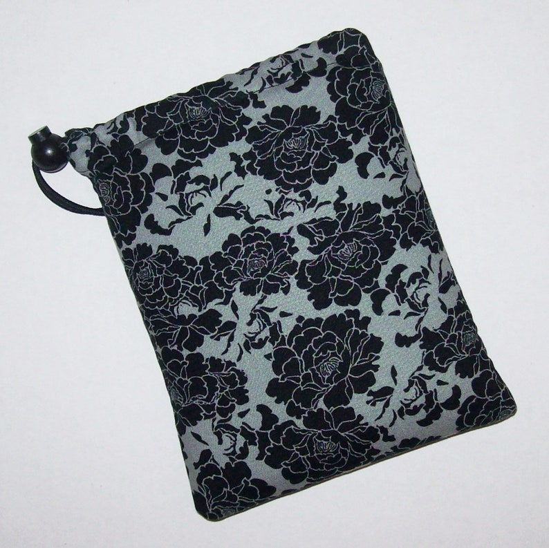 Pipe Pouch  Dark Floral  Glass Pipe Case  Pipe Bag  Padded image 0