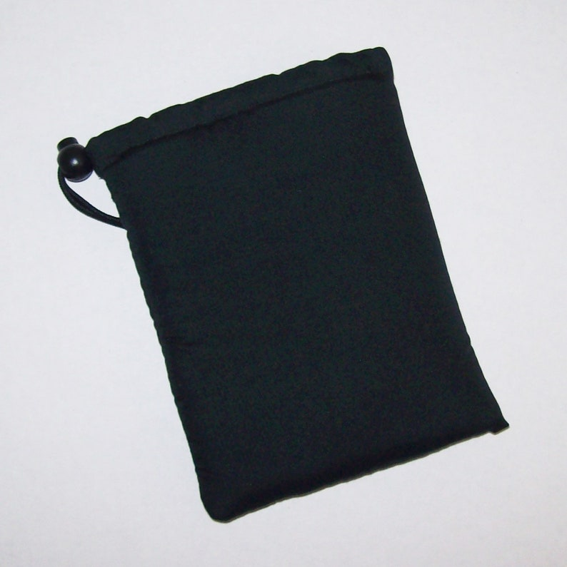 Black Drawstring Bag  Padded Pipe Pouch  Pipe Bag  Glass image 0
