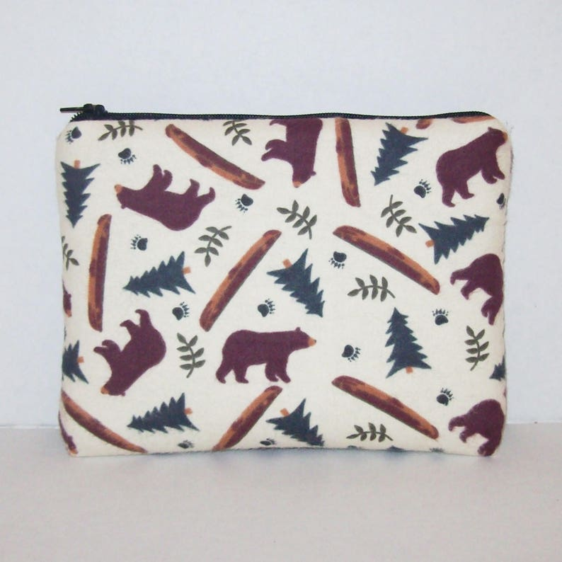 Bear Forest  Padded Pipe Pouch  Glass Pipe Case  Zipper Bag image 0