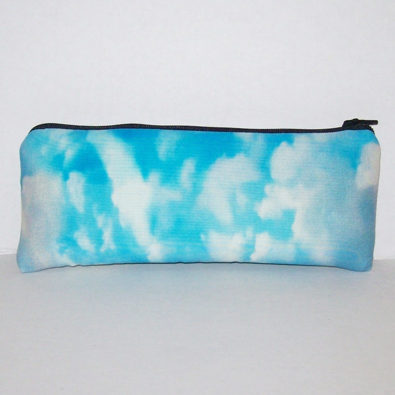 Padded Pipe Pouch  Sky Clouds  Pipe Case  Glass Pipe Bag  image 0