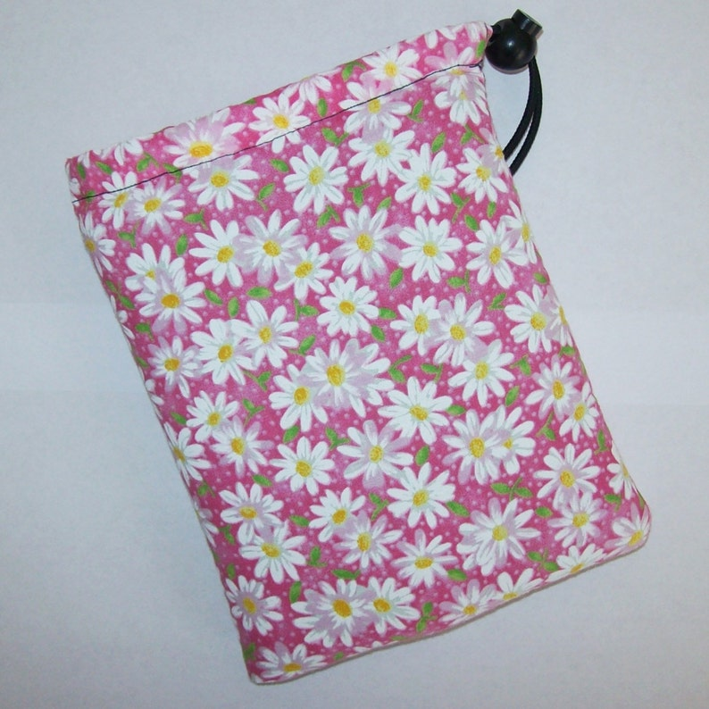 Pink Daisy Pipe Pouch  Glass Pipe Case  Pipe Bag  Padded image 0