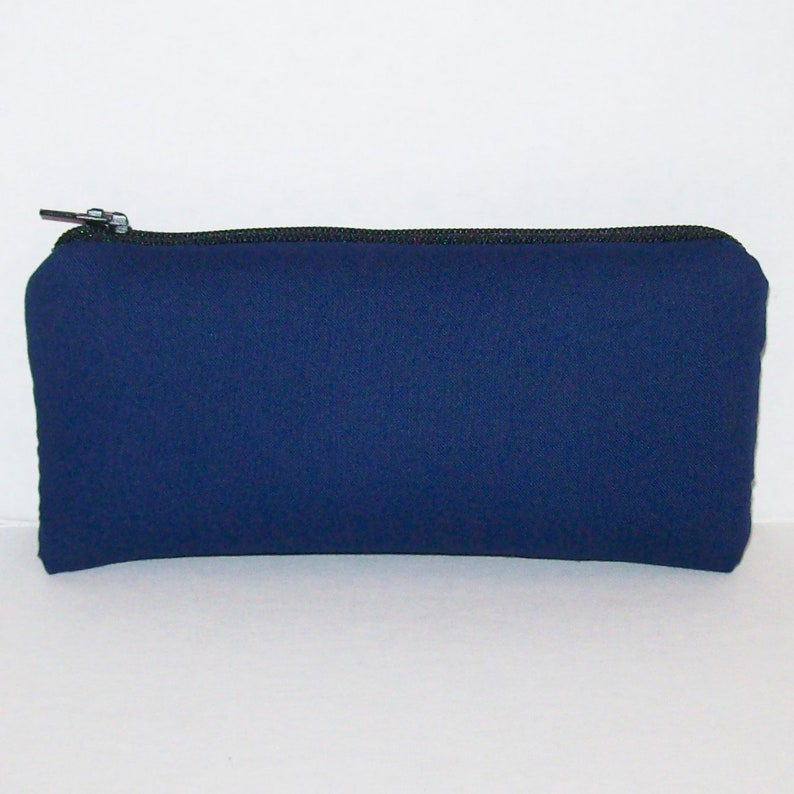Pipe Pouch  Navy Blue Zipper Bag  Pipe Case  Glass Pipe Bag image 0