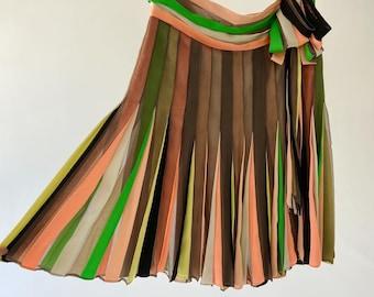 Jean Paul Gaultier Color Wheel Pleated Skirt