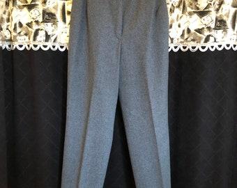 Vintage Pendleton Gray Wool High Waist Trouser Pants / Size 6 / 28 waist