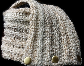 Custom Bulky Crocheted Cowl Neckwarmer