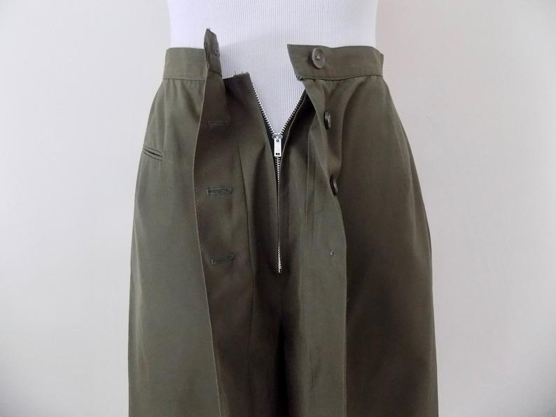 XS Army Green 50s Cotton Skort