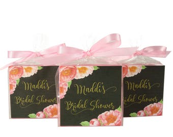 Peony Party Favors - Bridal Shower - Personalized With Your Very Own Name