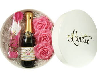 Will You Be My Bridesmaid - Personalized Gift Box - Bridesmaid Proposal - Pop The Bubbly And Ask Her In Style
