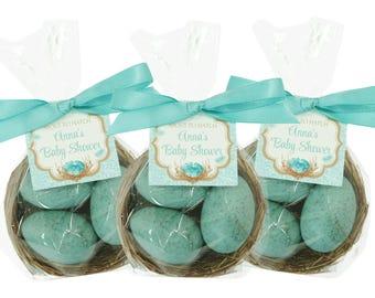 Robin's Egg Nest Favors - Your Choice Color - Shower Favors - Custom Favor