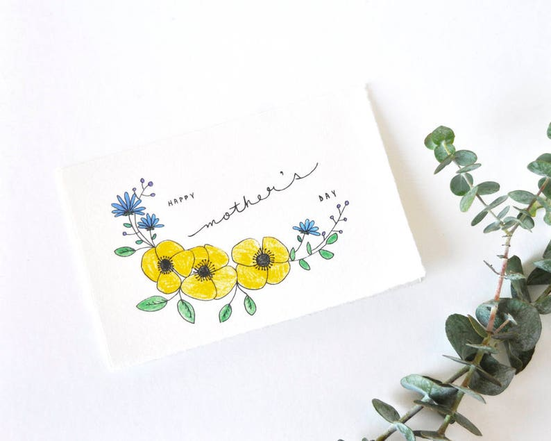 Floral Mother's Day Card  Happy Mother's Day image 0
