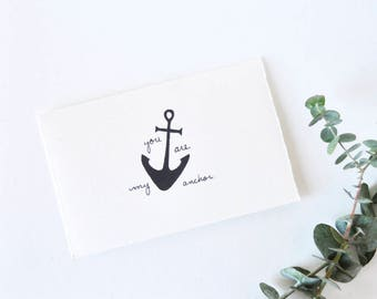Simple Anniversary Card - Love Card Anchor Drawing - You are My Anchor