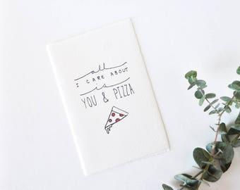 Cute Love Card - Valentine - You & Pizza