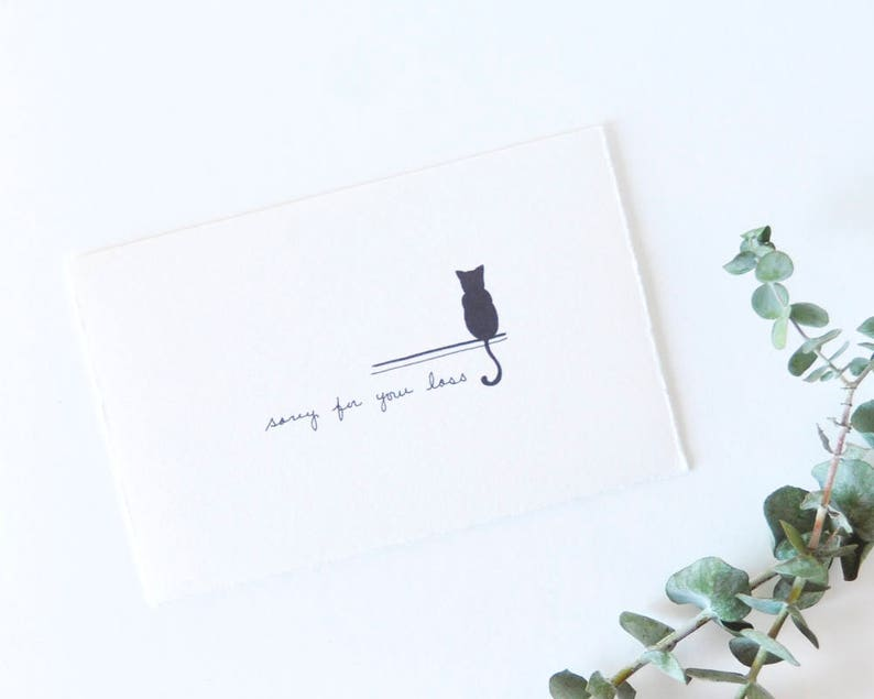 Simple Pet Sympathy Card  Pet Memorial  Sorry For Your Loss image 0