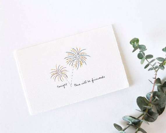 Naughty Wedding Card Simple Anniversary Card Fireworks Etsy