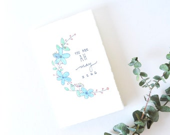 Thinking of You Card - Floral Thank You - You Are Amazing