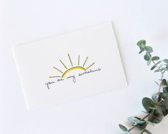Simple Sunshine Love Card - Cute Valentine - You Are My Sunshine