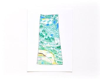 Art Print - Saskatchewan Ecoregions - Provincial