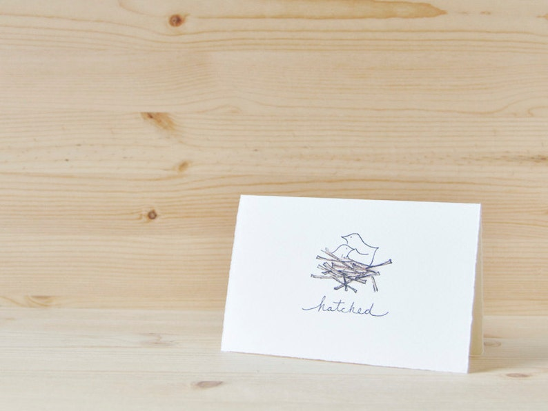 Cute New Baby Card Hatched