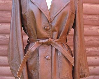 Men's 1970s Soft Supple Leather Coat
