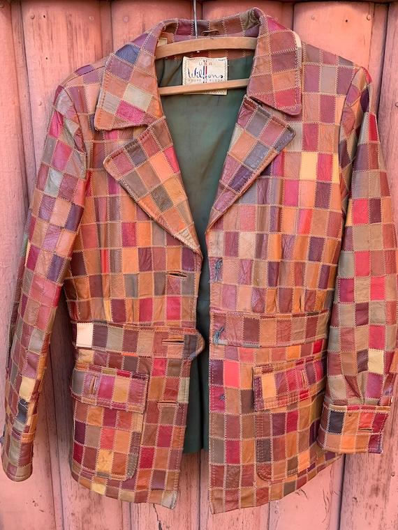 Vintage 1970s Wilson's Leather Zig Zag Stitched Pa