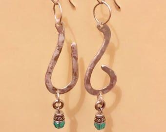 Sky Blue sterling earrings