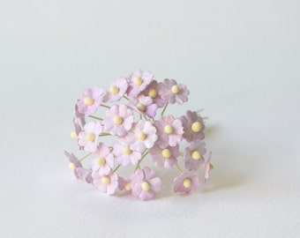 10  mm 20  Lilac   Mulberry Paper  Flower