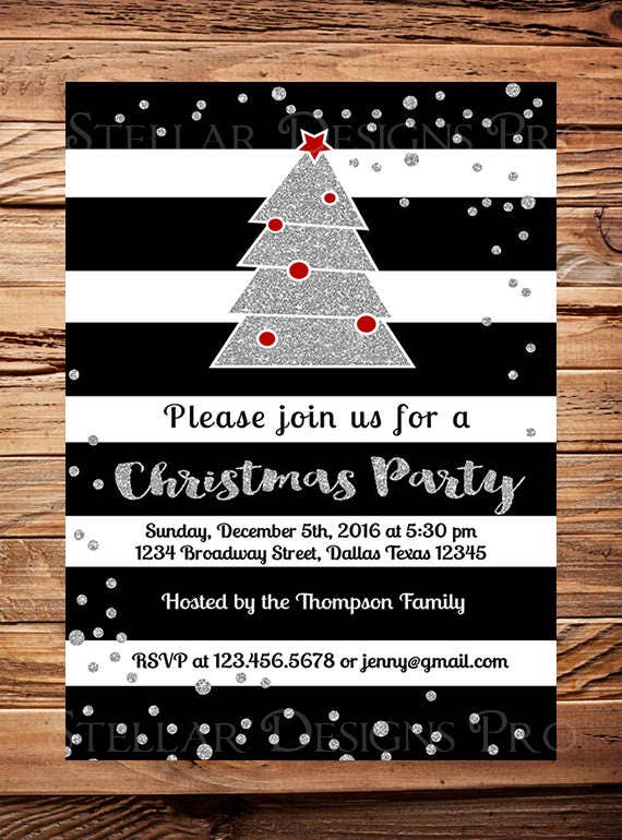 christmas party invitations christmas party save the date etsy