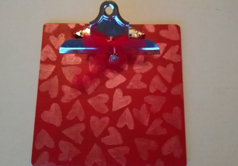 Heart Clipboard Red Clipboard Hearts Love Clipboard Small Etsy