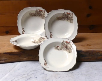 J & G Meakin Sunshine Collection Dessert/Sweets Dishes Circa 1940