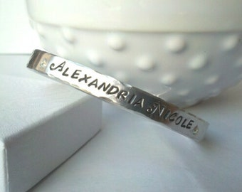 Personalized Stamped Name Bracelet
