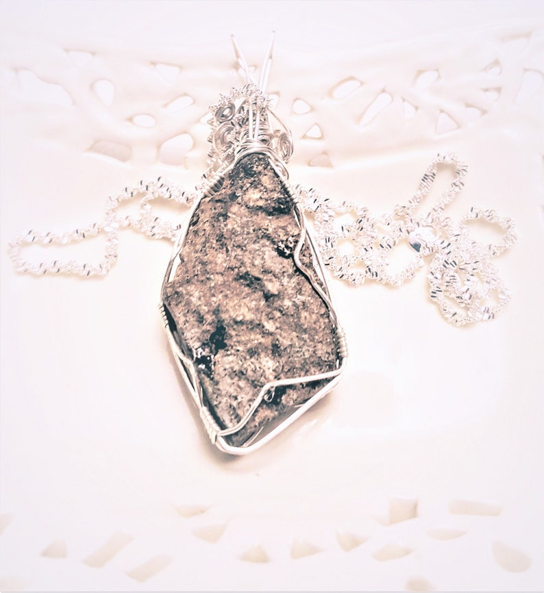 Raw Amethyst Druzy Pendant Sterling Silver Necklace Wire Wrapped Gemstone Jewelry Holiday Gifts for Her Handmade in the USA