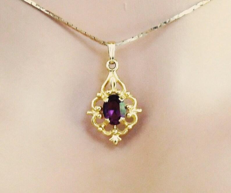 Jewelry Sets Supply Purple Amethyst Gemstone Flower Oval Cut Necklace Pendant Earrings Jewlery Set Latest Fashion
