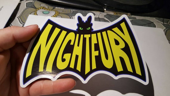 How To Train Your Dragon Toothless Night Fury Batman Logo