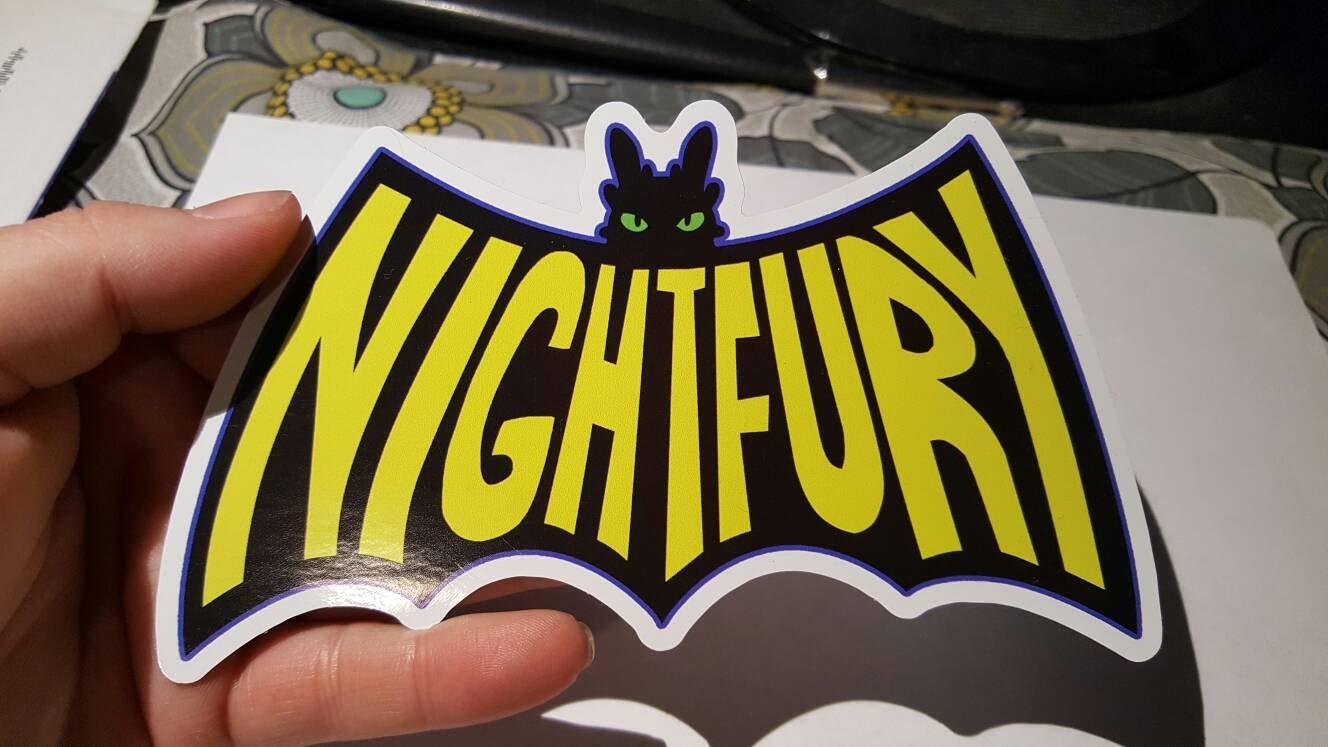 How To Train Your Dragon Toothless Night Fury Batman Logo | Etsy