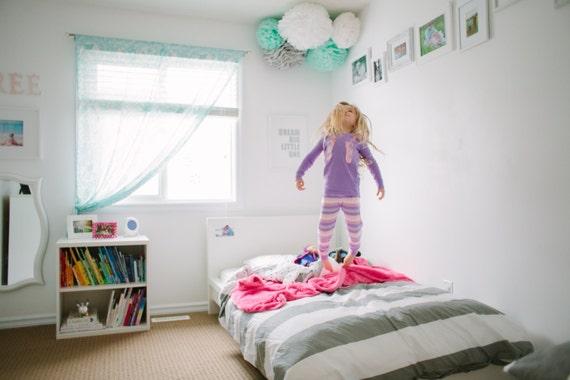 Papieren zakdoekje pompoms grote meid kamer decoratie meisje etsy