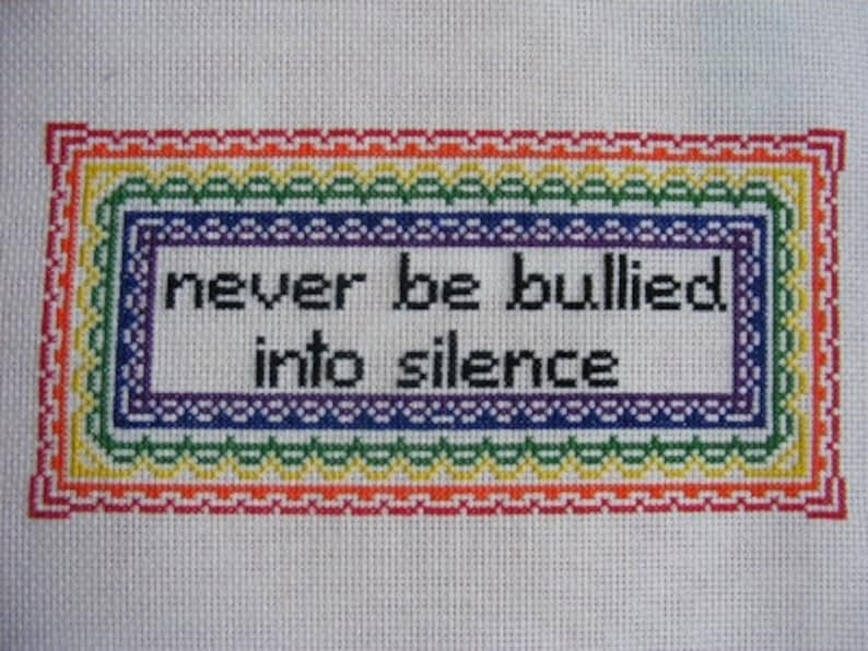 Anti-Bullying Pattern  Robert Frost Gay Pride image 0