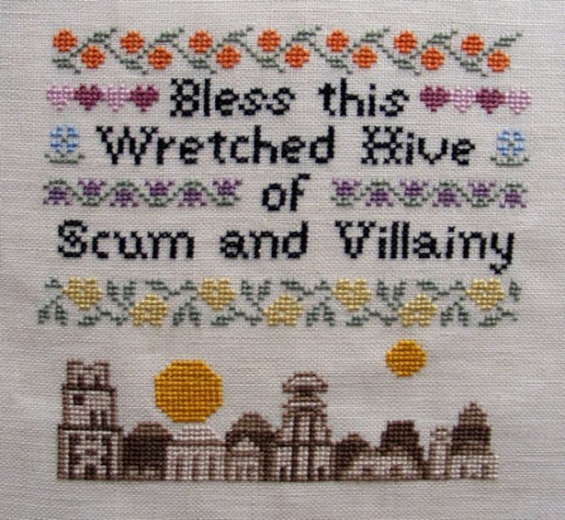 Bless This House  Mos Eisley Edition Cross-Stitch Pattern image 0