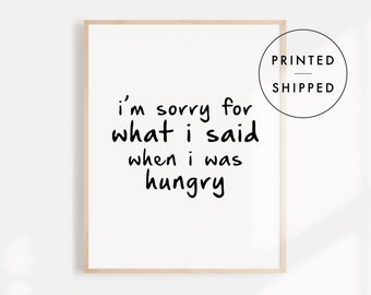 I was hungry quote | Etsy