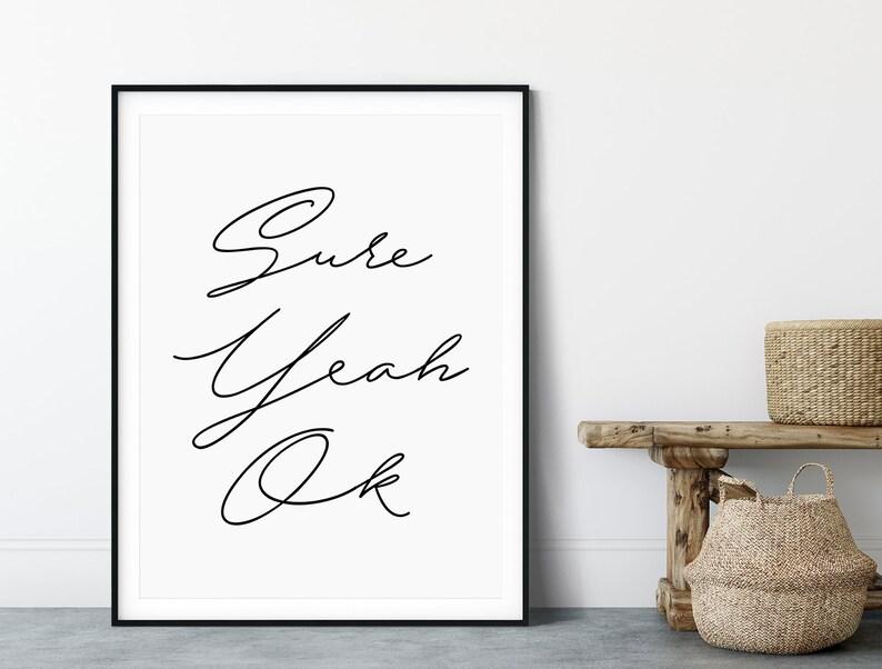 Inspirational Wall Decor Handwriting Printable Wall Art Printable Quotes Black and White Art