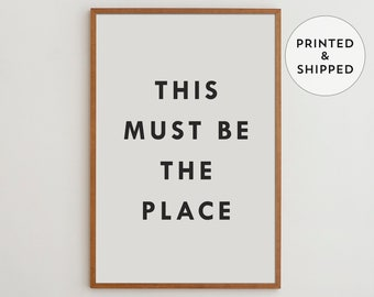 This Must Be The Place, Black and white print, Minimalist wall decor, Movie poster, Modern wall art, Good gift idea for office decor