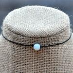 Moonstone String Choker, Gemstone Choker Necklace