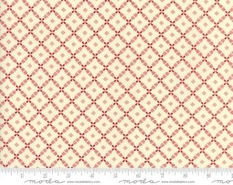 Farmhouse Reds by Minick & Simpson - Floral Lattice - Ivory  - Moda 14857 13