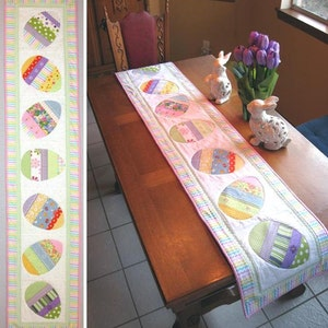 Happy Hunting Easter Table Runner Pattern Pattern Only Etsy
