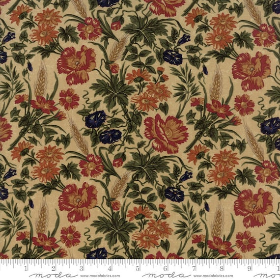 Moda HARVEST HILL Red 9557 13 Quilt Fabric By The Yard By Kansas Troubles