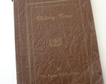 Victory Verse Mrs. Agnes Wilkins Cross 1948 signed by the author Christian poems