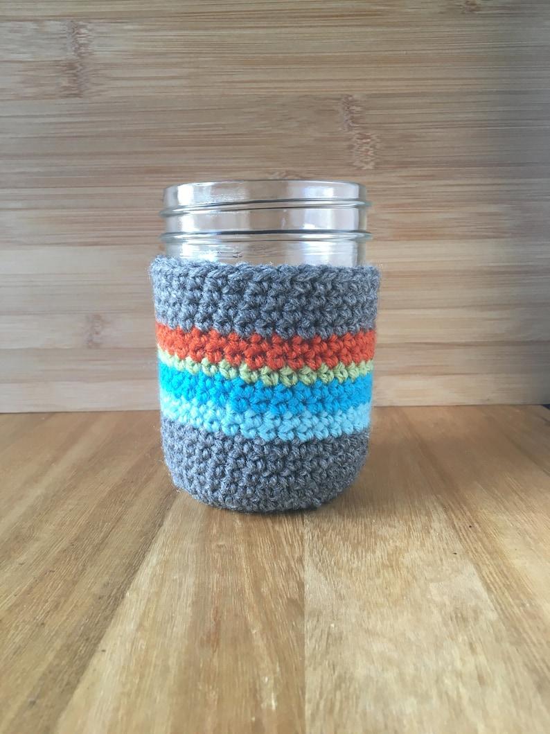 Mason Jar Cozy Coffee Cup Cozy  Coffee Sleeve Reusable image 0