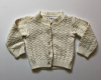 1950's White Knit Sweater (9/12 months)