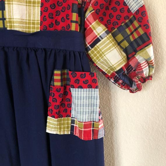 1960s Patchwork Print Dress (4t) - image 3