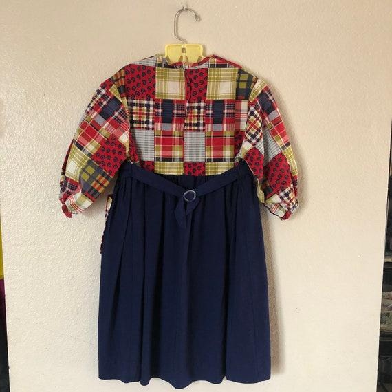 1960s Patchwork Print Dress (4t) - image 4